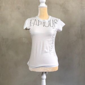My white famous stars and strap short sleeve tee